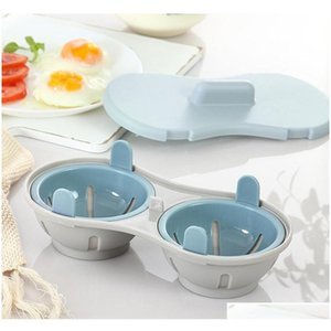 Microwave Egg Poacher Bpa Free & Dishwasher Safe Dual Caves Poached Egg Maker Double Cups Egg Cooker Steamer jllFYg eatout