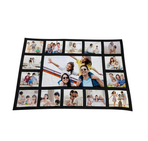 125*150cm Sublimation Thermal Fleece Blanket Heat Print Fabric Plush Mat Diy Blank Carpet 9 15 20 Grids Plaid Bl jllpMw sinabag
