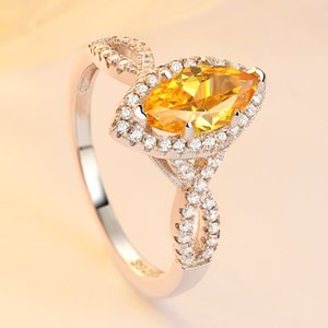 Fashion Tonglin Sterling Silver Ring for Women Luxurious and Personalized Horse Eye Citrine Zircon Fashion Ring Gang Drill Factory Wholesale