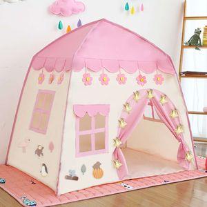Çocuklar Çocuk Oyun Çocuk Kapalı Açık Prenses Kale Katlanır Cubby Oyuncaklar Enfant Oda Evi Plaj Çadır Teepee Playhouse