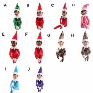 10 Styles Christmas Elf-Puppe-Plüsch-Spielzeug Elfen Weihnachtspuppenkleidung auf dem Regal für Weihnachtsgeschenk Freies Verschiffen Play21