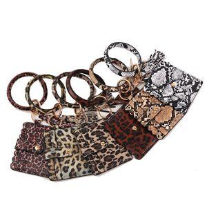 Multifunctional Bangle Key Ring Card Holder Wristlet Keychain Bracelet for Womens Leather Purse Tassel Keychain Bangle Key Ring for Women