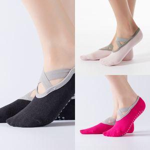 Hengju überqueren Ballett-Tanz-Yoga rutschfest und atmungsaktiv dachten Boot board socksopen Socken Sportboot Socken zurück Boden M7APz