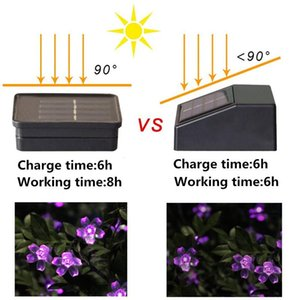 Solar Lamps Led String Lights 7m 50led 22m 12m With Cherry Blossoms Garland Christmas For Wedding Garden Party Outdoor Club Swy sqcaWi