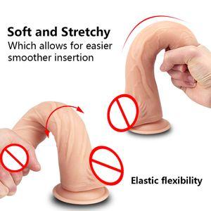 Dildo Frau Strapon erwachsenes Geschlecht spielt für Frauen weichen Penis mit Saugnapf-Bügel auf Dildo Realistic Dildo Lesbian Sex Spielzeug