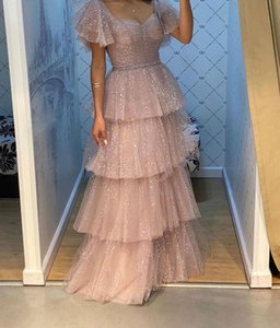 2020 Arabic Aso Ebi Sparkly Crystals Sexy Evening Dresses Spaghetti A-line Prom Dresses Tulle Formal Party Second Reception Gowns ZJ999