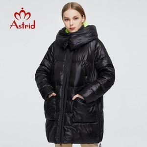 Astrid 2020 neue Winter-Frauen-Mantel Frauen langen warme Parka Mode Jacke mit Kapuze Bio-Down-weibliche Kleidung Brand New Entwurfs 7253