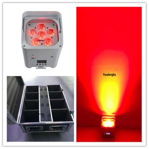 8 unids con la carga de la mosca de carga PAR LED Etapa de la batería DJ Wedding 6x18W RGBWA UV 6IN1 WiFi Flat Wireless LED Par luz