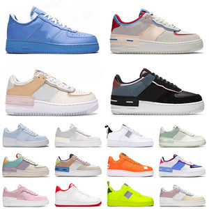 force 1 shadow force af1 off white 2020 Top Quality Men Women Running Sport Shoes Classic Shadow White Barely Rose Pale Ivory Metallic Basketball Skateboarding Shoes