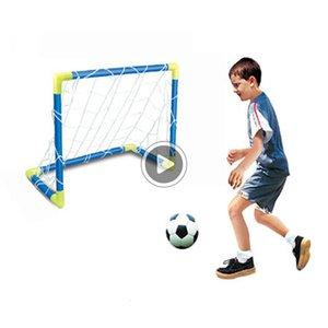 SL34 che piega il mini SOCR sfera Palo netto Set Pump + Bambini Sport giochi Home Giocattoli Outdoor trasporto di goccia regalo al coperto