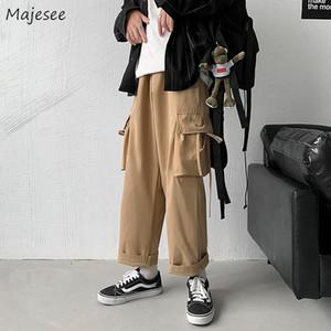 Мужские брюки Мужчины Мульти-карманы Грузовые брюки Лодыжки Досуг Chic Streetwear Хип-Хоп Хараджуку Все-Матч Ульзанг Безумия Корейский стиль