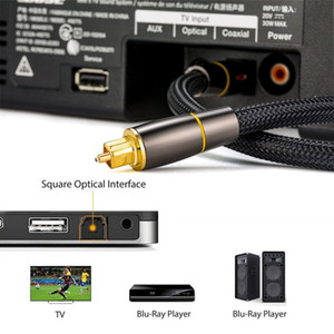 Nylon Digital Optical Audio Cable HIFI 5.1 SPDIF Ausgang Toslink 1m Verstärker Optical Fiber BraidCable