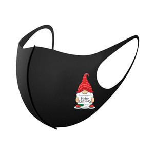 Unisexe lavable anti-poussière masque masque masque bonhomme de neige 3d 1pc Masque de fête drôle Femmes D5 Noël réutilisable mascarilla imprimé visage YXLZFD QQERB