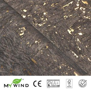 2020 MY WIND Brown With Gold Wallpapers Luxury 100% Natural Material Safety Innocuity 3d Wallpaper In Roll Home Decor Luxurious