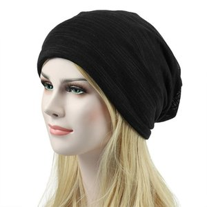 New Unisex Beanie Hat Ribbed Knitted Cuffed Winter Hat Men Women Head Cap Outdoor Fashion Summer Hip-hop Casual Scarf