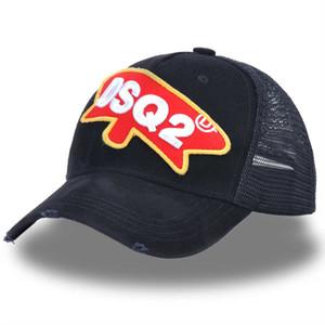 2019 Caps Icon Mektuplar Pamuk Beyzbol Siyah Örgü Baba Şapka Hip Hop D2 Trucker Cap Yaz Ayarlanabilir
