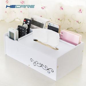 HECARE Caixa de tecido de plástico com caixa de diversões de toalha de toalha titular caixa de tecidos impermeáveis organizador moderno DIY guardanapo Y200328