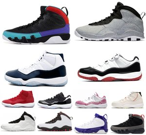 Nike Air Max Retro Jordan Shoes Ruh Spor Sneakers 7-13 Bred 2020 Basketbol Ayakkabı Mavi Citrus 9 IX 9s Rüya O Erkek Basketbol Ayakkabı LA Siyah Beyaz UNC