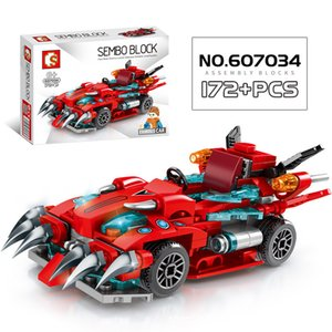 City Vehicle Racing Competitive Sports Racing Car Bricks Speed Champion Technology Model Building Blocks Children Boys Toy Gift