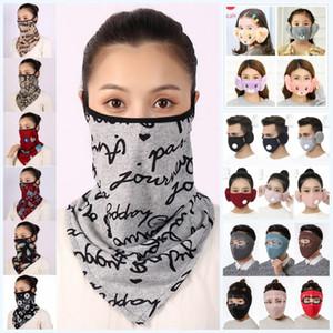 2 en 1 mascarilla de la máscara de la cubierta protectora del oído con la felpa gruesa PM2.5 boca caliente máscaras de invierno Boca-mufla Earflap