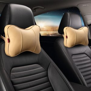Car Headrest Neck Pillow Auto 3D Double Side Leather U Shaped Cervical Spine Pillow Support Relieve Pain and Sore1