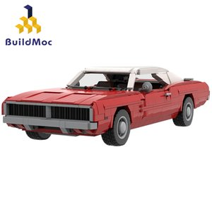 BuildMoc Lepining 42111 37066 1969 Dodges Charger Racing Building Block Block Toy Niños DIY Regalo de cumpleaños Q0123