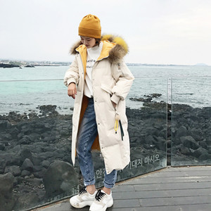 Leiouna Slim Thick Cotton Winter Down Fashion Coat Women Long Female Warm Autumn Feather Jacket Parka Coats Duck Outerwear 201027