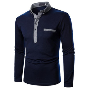 Mens Shirt Long Short Sleeve Shirt Pure Color Tops New Clothing Autumn Streetwear Casual Fashion Style