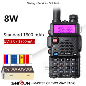 오리지널 5W 8W Baofeng UV-5R Walkie Talkie 10 km Baofeng UV5R Walkie-Talkie Hunting Radio UV 5R Baofeng UV-9R UV-82 UV-8HX UV-XR
