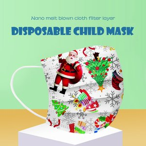 New Disposable Masks Children's Christmas Gift Masks for the Elderly Dust Printing Three-layer Protection Masks with Meltblown Cloth