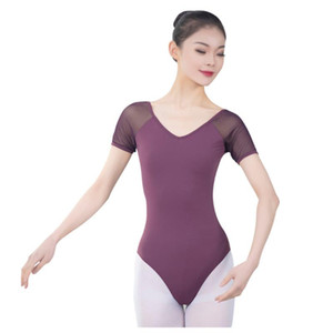 Ballet Ballet Mesdames 'Courte Sleeve Gymnastics Modern Dance Ballet Ensentique Supplique Body One-Piece pour adultes Dames