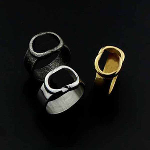 New style charm Jewelry Stainless steel letters ring Hollow ring simple fashion Hip hop ring Party Gift accessory