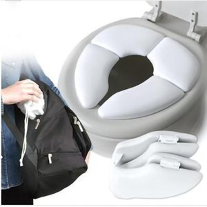 New Arrival Kids Potty Seat Cushion Foldable Soilet Seat Baby Toddler Travel Folding Padded Potty Seat Cushion Toilet Training 201117