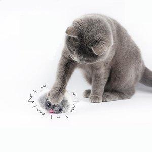 الحيوانات الأليفة الفئران الفأر شكل اللعب القط أفخم لعبة يهز التفاعلية لطيف القط أفخم لعب جرو الكلب مضحك هدايا 2021 جديد
