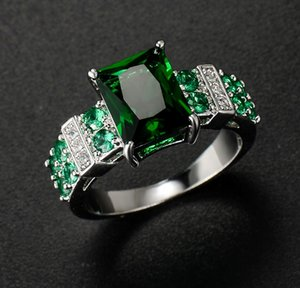 fashion up-market 2pcs lots low price high quality 925 silver diamond crystal lady's ring sz 6-11