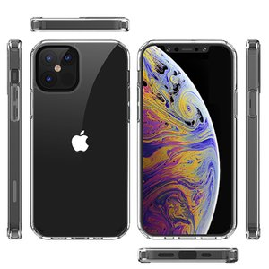 For iphone 13 pro max mini 12 11 7 8 plus Transparent clear phone cases Galaxy S21 FE Z flip 3 A22 A03S A32 1.5MM tpu Acrylic case B