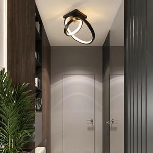 Verllas Modern LED Ceiling Lights for bedside Aisle corridor balcony Entrance Lustre White Black LED ustre avize Ceiling Lamp