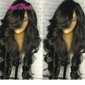 Bythair Brazilian Human Hair Full Lace Wigs Virgin Hair Body Wave Glueless Full Lace Wigs Black Women Lace Front Wigs With Baby Hair