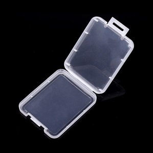 500pcs lot Shatter Container Box Protective Memory Card Boxes CF Card Tool Plastic Transparent Storage Container