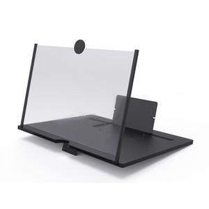10 بوصة 3d hd الفيديو الهاتف الذكي الهاتف المحمول شاشة تعمل باللمس مكبر مكبر للصوت تكبير 4 مرات مع قوس