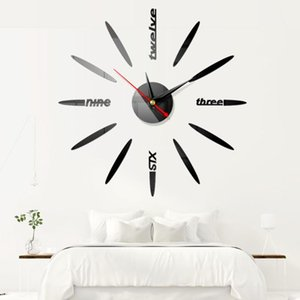 Mute Living Room Home Decor Wall Clock Pointer Self Adhesive 3D DIY Mirror Surface Bedroom Sticker Acrylic Modern Bar Office