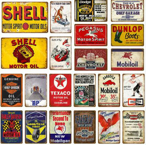 Segni di latta in metallo vintage per arredamento da parete Londra Paris City Sights Iron Paintings 20 * 30cm Segni in metallo Piastra di Tin Pub Bar Garage Home DWB1319