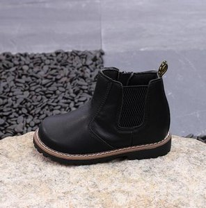 Autumn Winter Children Leather Boots Cow Split Leather Boots Boys Girls Baby Zip Shoes Fashion Kids Ankle Boots 04b sqcyPB bdetrade