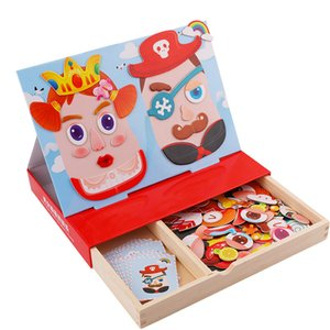 4 styles Educational Games Animal boy girl car 3D Magnetic Puzzle Wooden Toys For Children with original box