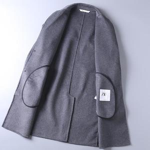 Homem longo terno casaco inverno preservação de calor de pano abb com nocque macio lazer moda bonito item considerável