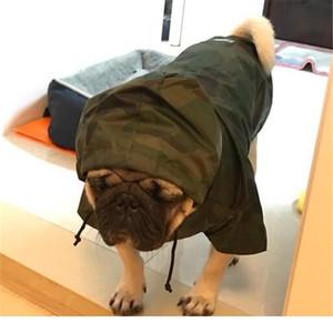 Haustier Camouflage Big Dog Raincoat Wasserdichte Kleidung für kleine große Hunde Mit Kapuze Rain Cloak Französische Bulldogge Labrador C BBYOG