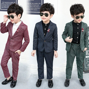 Baby Boys Suits Costume for Boy 2019 Autumn Single Breasted Kids Blazers Boy Suit Formal Wedding Wear Cotton Children Clothing 8n7I#