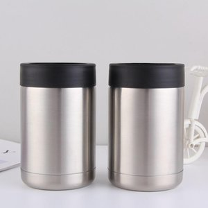 12oz Cooler Stainless Steel tumbler Beer Cold Keeper Can Vacuum Insulated Bottle Insulation Cans Free Shipping DHB657