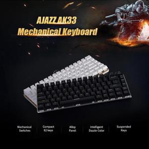 Ajazz AK33 Mechanical Keyboard 82 Key Anti-Ghosting Gaming Keyboard Blue   Black Switch Gamer PC Laptop Backlit Blue White RGB1