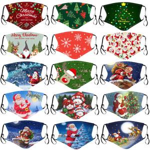 Feliz Natal máscara facial crianças Papai Noel presente do floco de neve para crianças Imprimir dos desenhos animados máscara designer de rosto respirável Dustproof PM2.5 máscara adulto